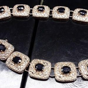 Jewelry - Diamond gold and Sapphire bracelet